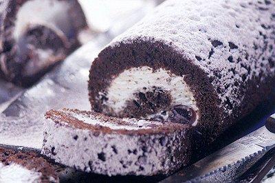黑樱桃巧克力蛋糕卷