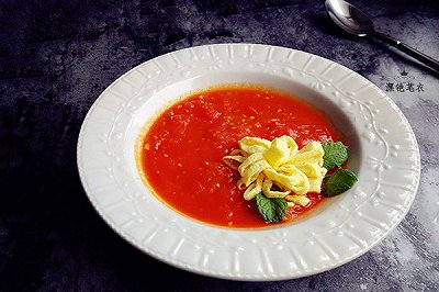 鸡蛋花番茄浓汤