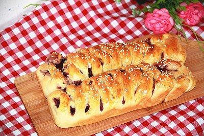 蓝莓辫子面包