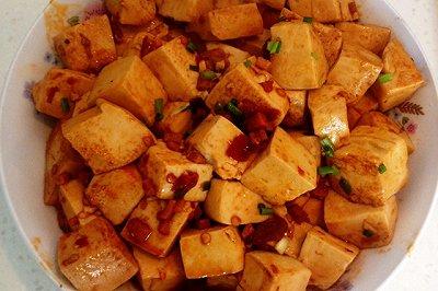 豆瓣酱炒豆腐