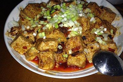 红烧豆腐(没有肉末的素豆腐)