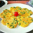 嫩豌豆蔬菜鸡蛋饼