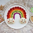 彩虹蔬菜馒头沙拉