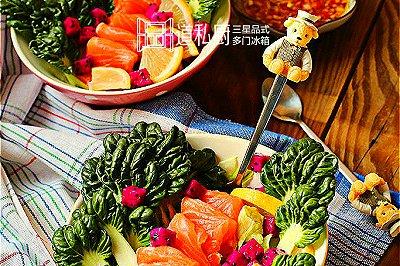 鲑鱼火龙果沙拉