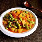 西红柿炒毛豆米