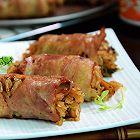 沙茶蘑菇培根饭卷