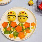 卡通小鸡饭团