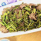 蒜苔炒肉(清淡)