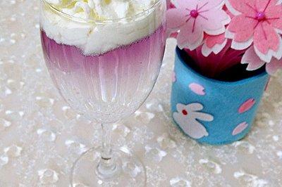 分层饮料紫色迷情