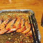 锡纸蒜蓉粉丝金针菇配大虾