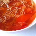 高纤减肥治便秘番茄金针菇汤