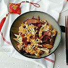 腊肉干锅有机花菜