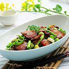 腊肉炒蚕豆