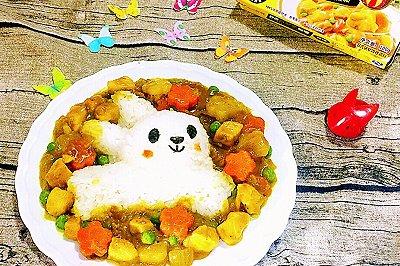 萌兔胡萝卜咖喱饭
