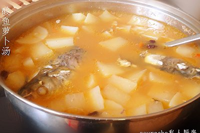 酸酸甜甜的酸鱼萝卜汤