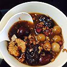 红糖生姜桂圆红枣核桃红豆汤