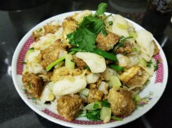 炸菜虾仁豆腐