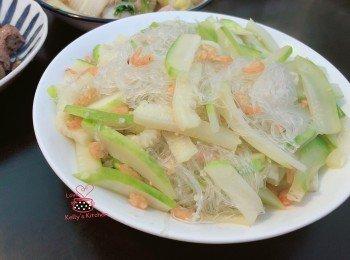 节瓜虾米煮粉丝