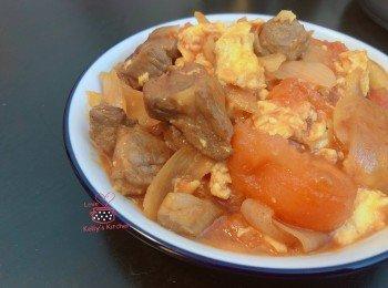 家常小菜:蕃茄滑蛋煎猪扒