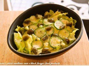 黑木耳小黄瓜莴苣沙拉