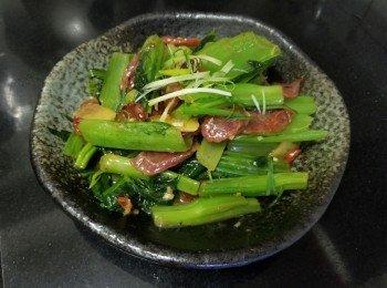 腊肠炒芥菜