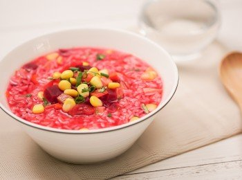 抗氧粟米红菜头粒素汤饭