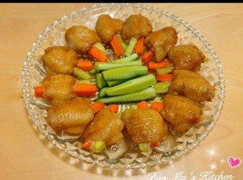 甘笋青瓜酿鸡翼