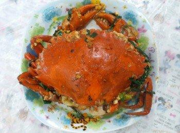 姜葱炒糕蟹