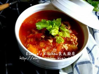 南瓜蕃茄浓虾汤