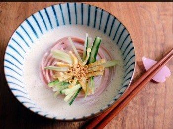 韩式豆浆樱花冷麵
