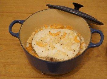 蒜香虾乾银鳕鱼煲仔饭