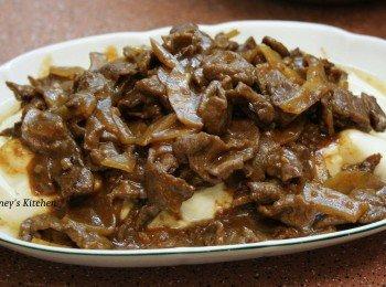 炸菜牛肉烩豆腐