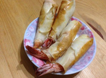羊奶芝士虾春卷(免炸)