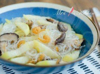 简易家常菜:节瓜冬粉虾米