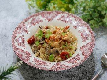 鲜虾野菇炖饭