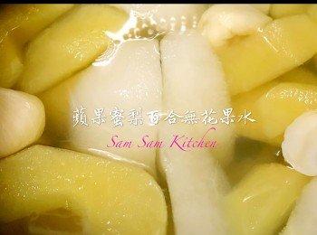 苹果蜜梨百合无花果水