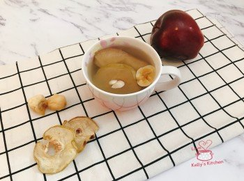 炖苹果雪梨乾无花果水