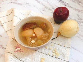 [滋润汤水] 苹果雪梨雪耳猪展汤