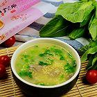 金龙鱼爱心桃花小米青菜猪肝粥