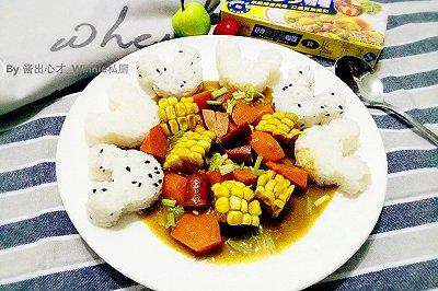 可爱米奇咖喱饭简单版