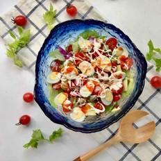 鹌鹑蛋果蔬沙拉