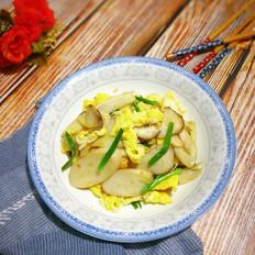 杏鲍菇银鱼炒鸡蛋