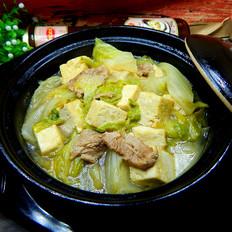 耗油白菜炖豆腐