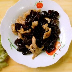 黑木耳炒肉片