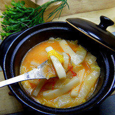 番茄牛肉汤煮年糕