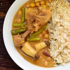 鹰嘴豆咖喱饭