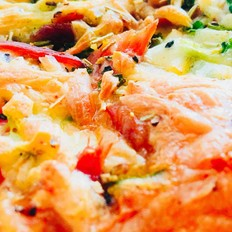 早餐:全麦切片迷你披萨