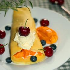 水果奶油鸡蛋饼
