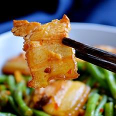 回锅肉炒豇豆
