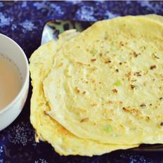 香酥豆浆渣鸡蛋饼